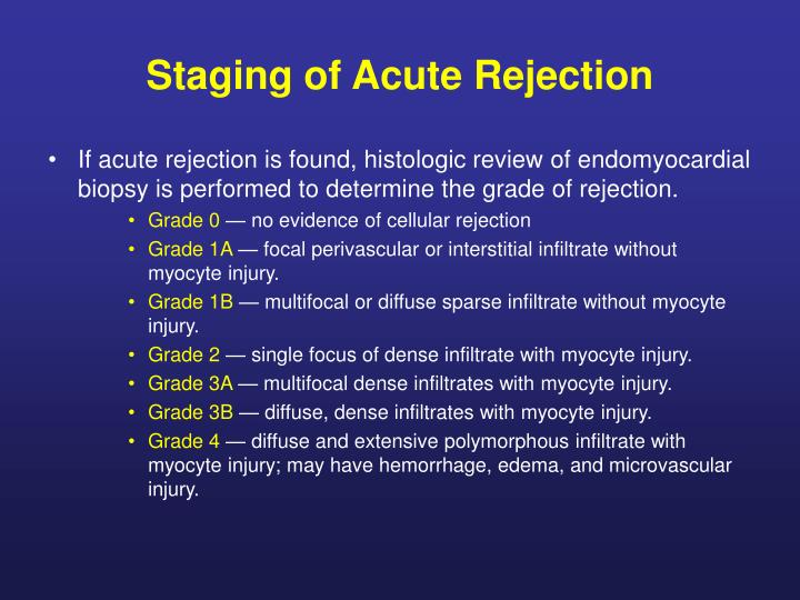 Staging of Acute Rejection