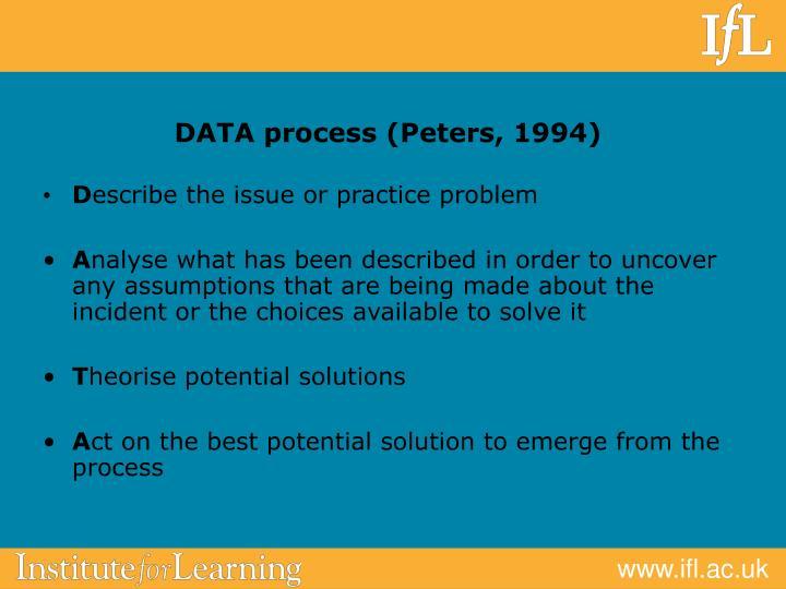DATA process (Peters, 1994)