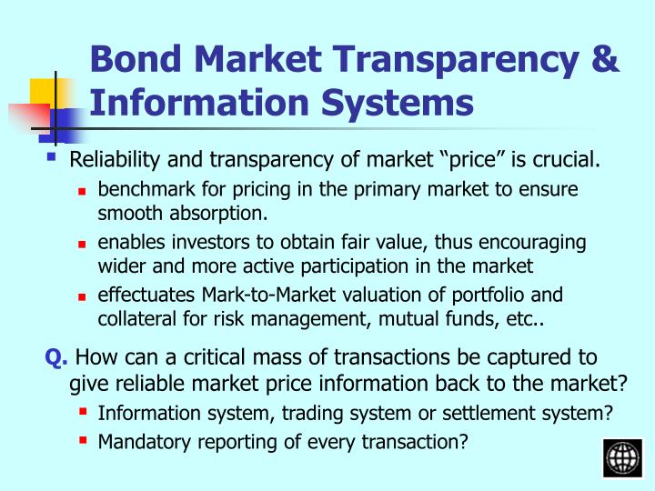 Bond Market Transparency &