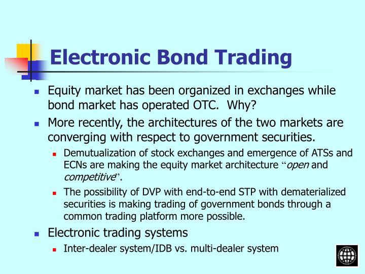 Electronic Bond Trading