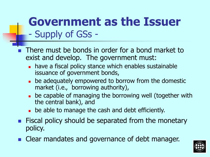 Government as the Issuer