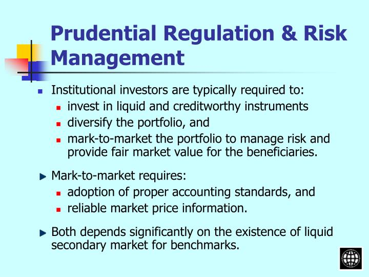 Prudential Regulation & Risk Management