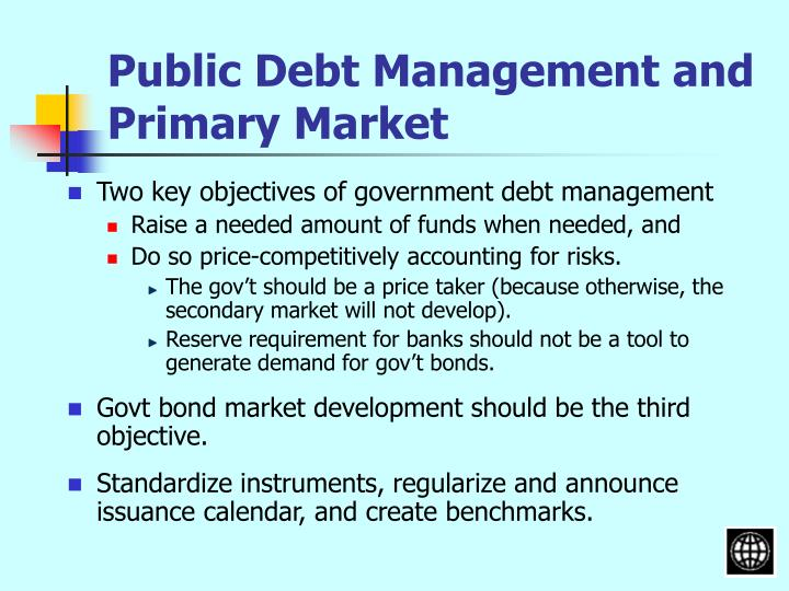 Public Debt Management and Primary Market