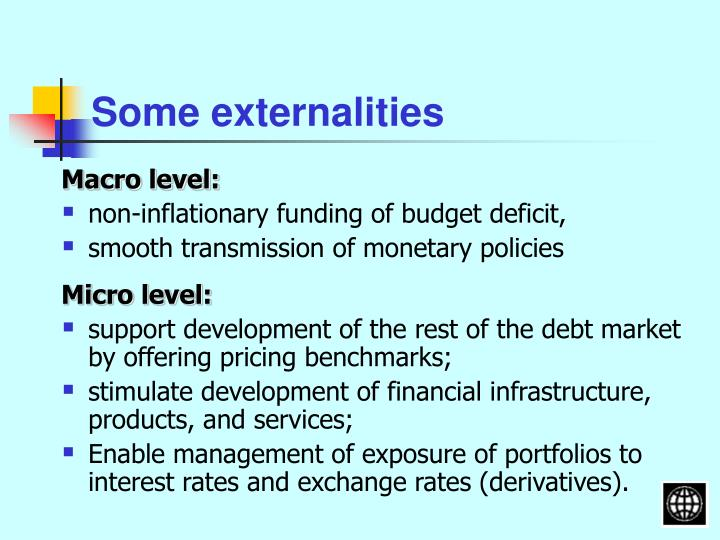 Some externalities