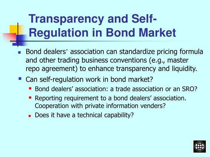 Transparency and Self-Regulation in Bond Market