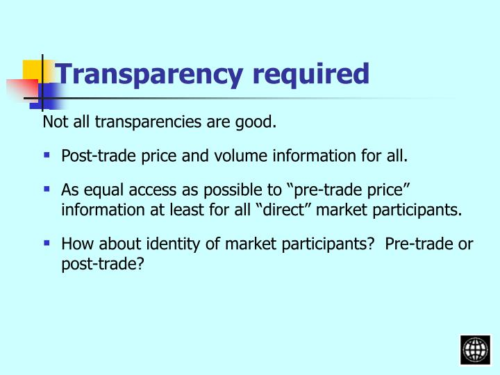 Transparency required