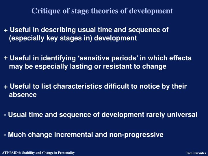 Critique of stage theories of development