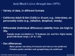jack block s lives through time 1971