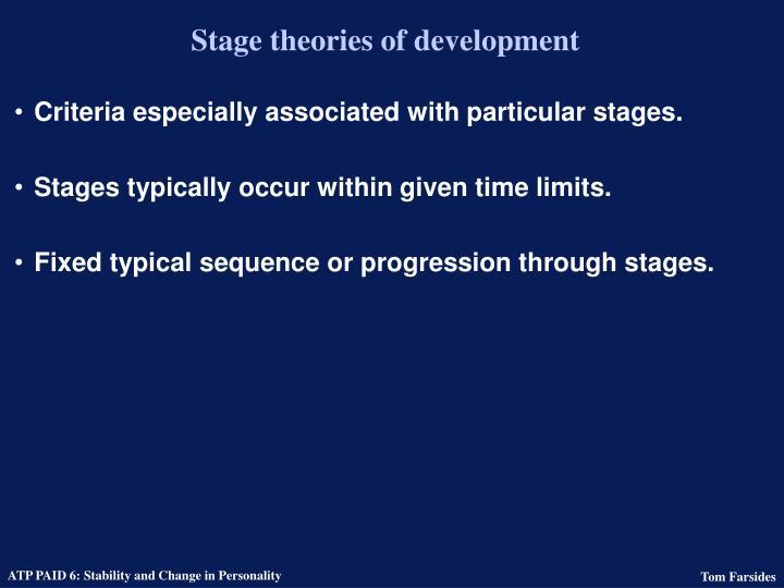 Stage theories of development