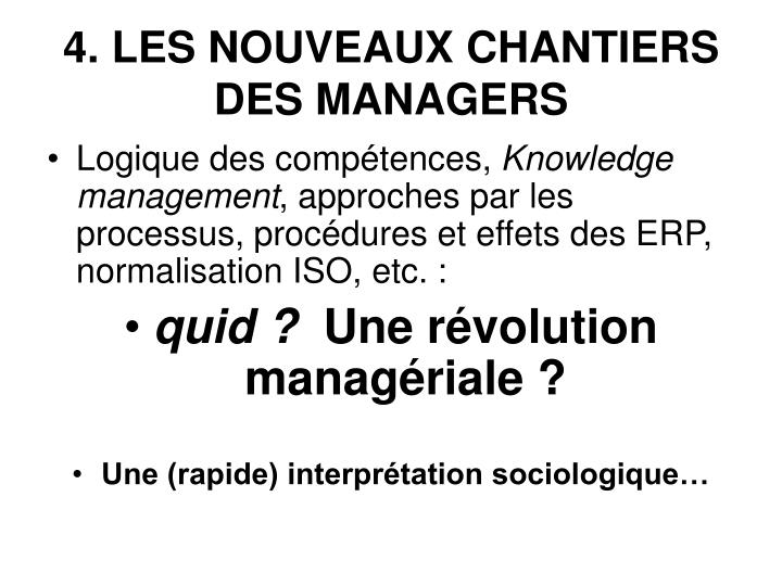 4. LES NOUVEAUX CHANTIERS DES MANAGERS