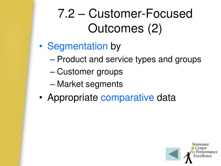 7.2 – Customer-Focused Outcomes (2)