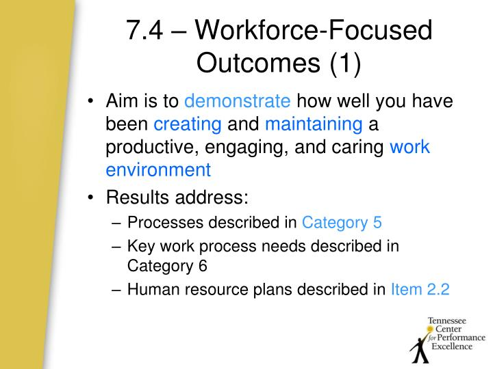 7.4 – Workforce-Focused Outcomes (1)