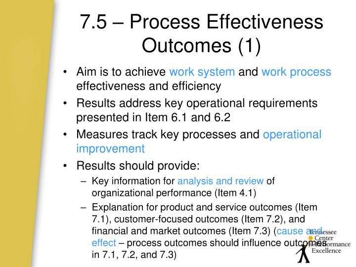 7.5 – Process Effectiveness Outcomes (1)