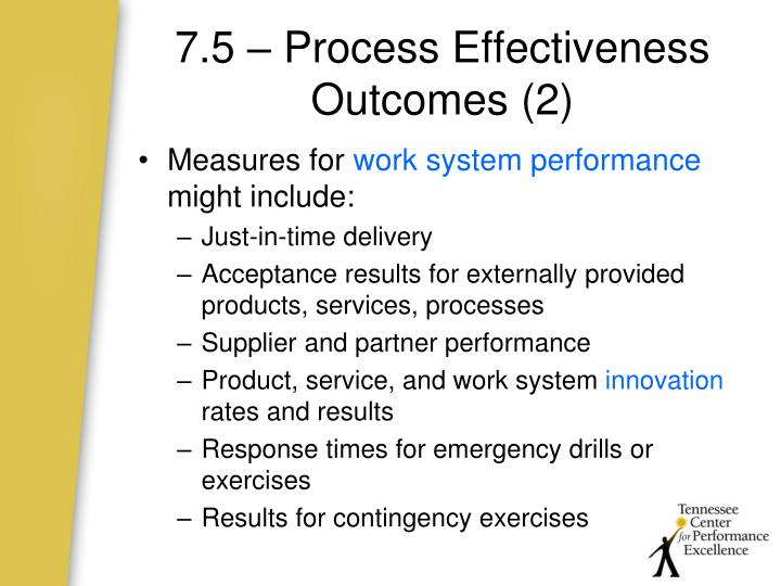 7.5 – Process Effectiveness Outcomes (2)