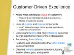 customer driven excellence