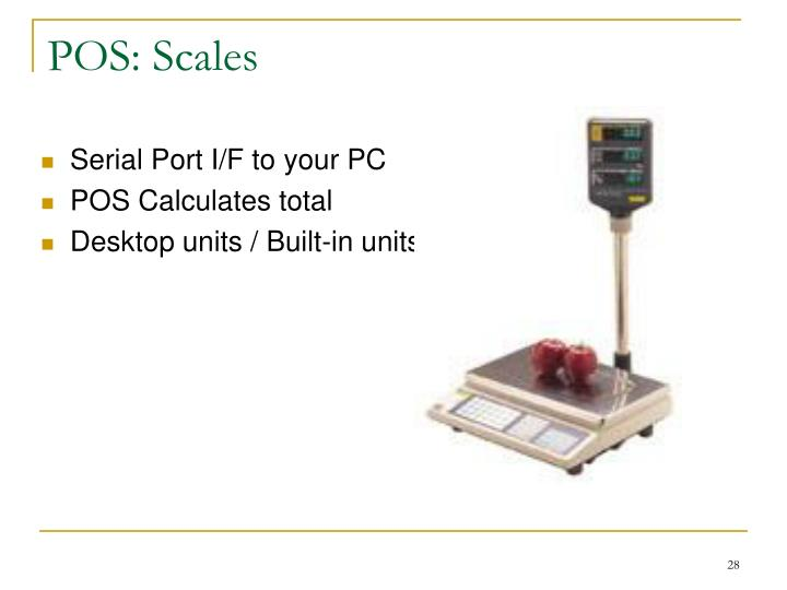 POS: Scales