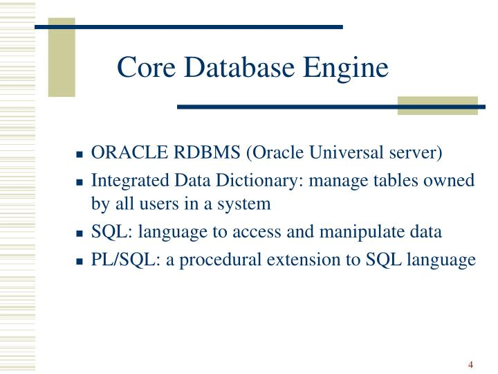 Core Database Engine
