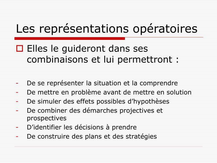 Les représentations opératoires