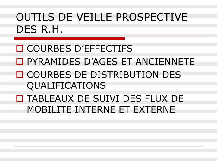 OUTILS DE VEILLE PROSPECTIVE DES R.H.