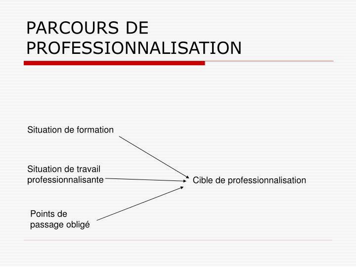 PARCOURS DE PROFESSIONNALISATION