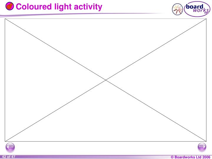 Coloured light activity