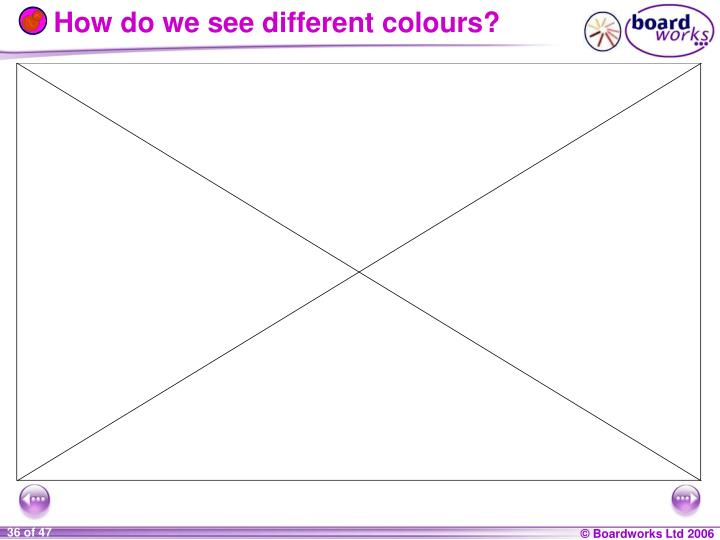 How do we see different colours?