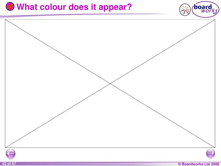 What colour does it appear?
