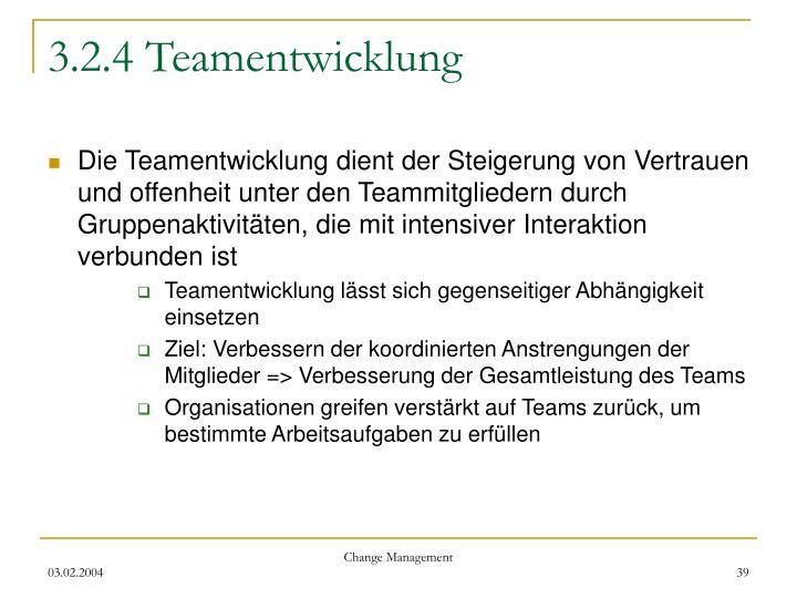 3.2.4 Teamentwicklung