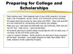 preparing for college and scholarships