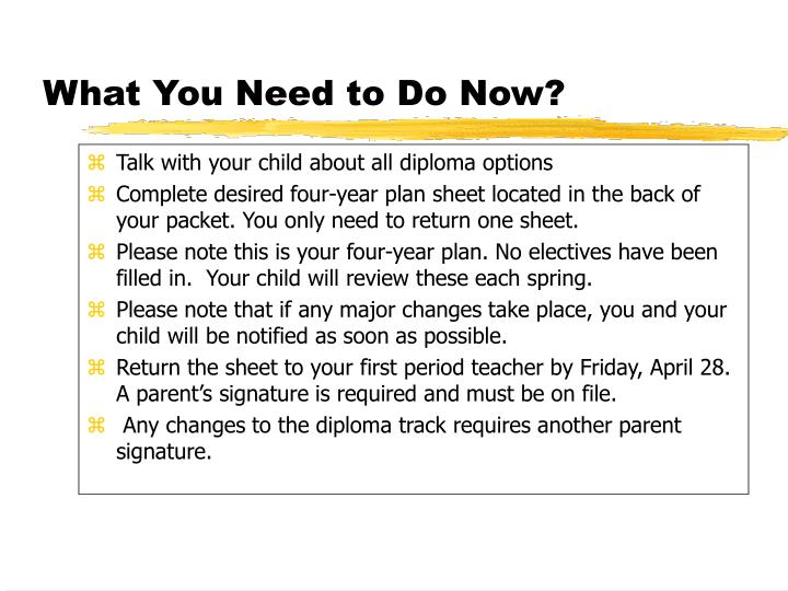 Talk with your child about all diploma options