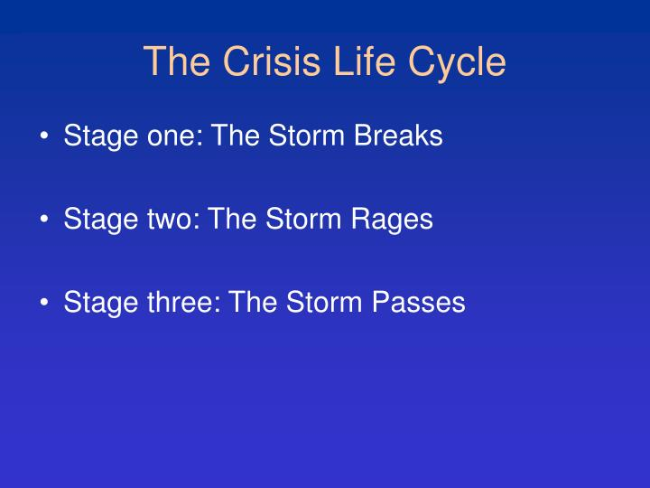 The Crisis Life Cycle