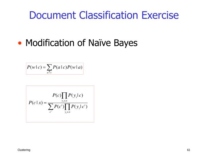 Document Classification Exercise