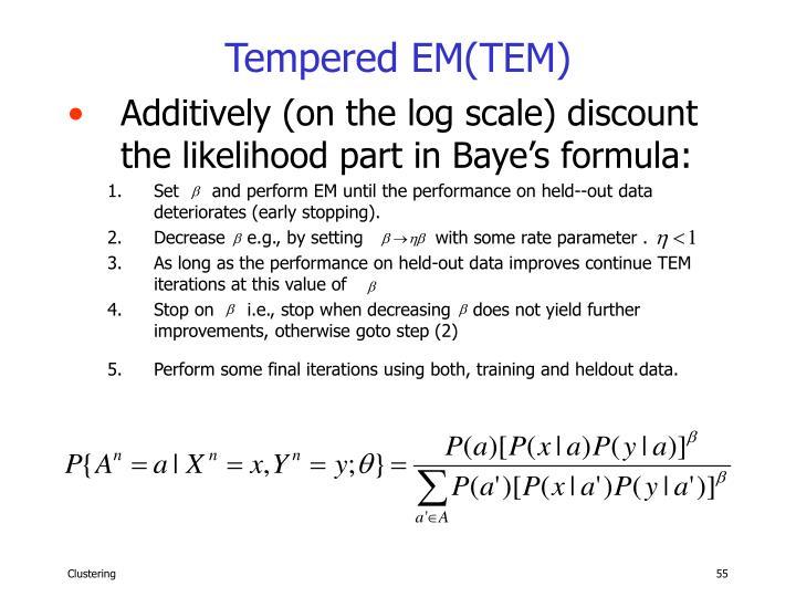 Tempered EM(TEM)