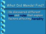 what did mendel find