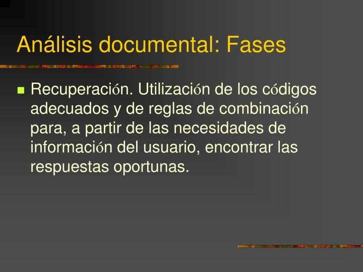 Análisis documental: Fases