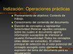 indizaci n operaciones pr cticas