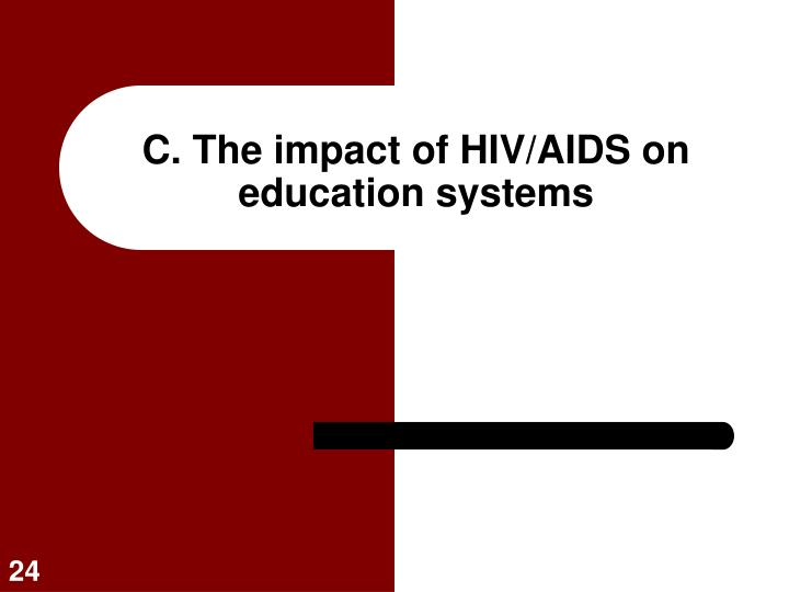 C. The impact of HIV/AIDS on education systems