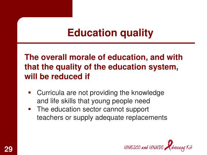 Education quality
