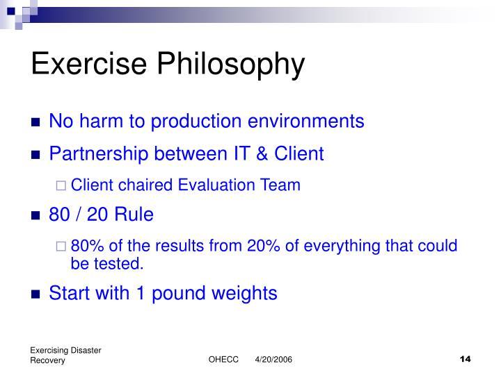 Exercise Philosophy