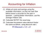 accounting for inflation