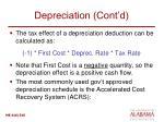 depreciation cont d