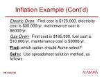 inflation example cont d