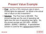 present value example1