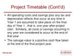 project timetable cont d