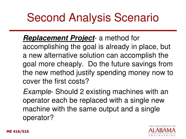 Second Analysis Scenario