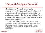 second analysis scenario