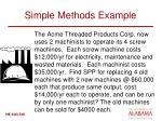 simple methods example