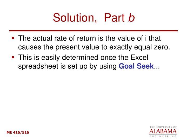 Solution,  Part