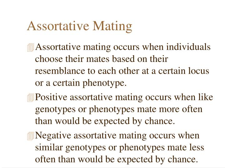 Assortative Mating