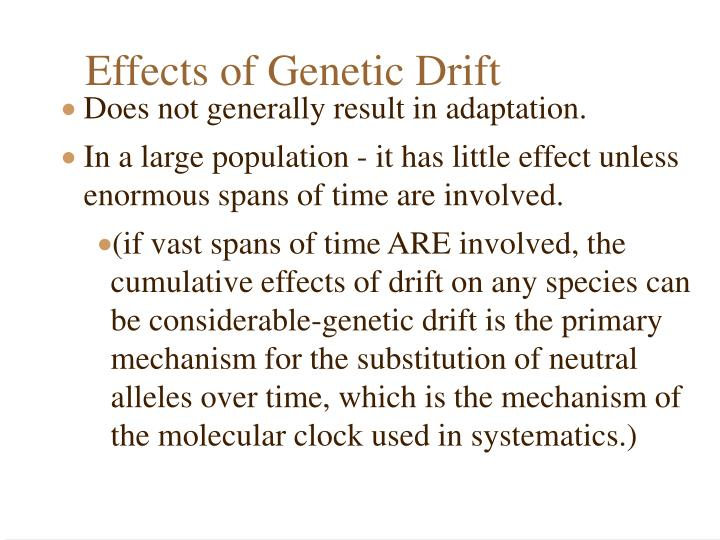 Effects of Genetic Drift